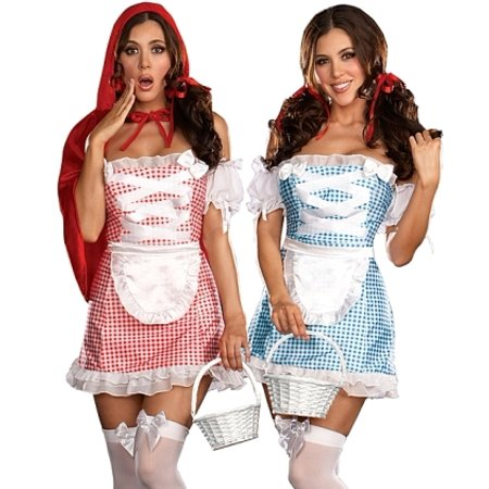 Red Riding Hood Dorothy Oz 2-IN-1 Halloween Costume