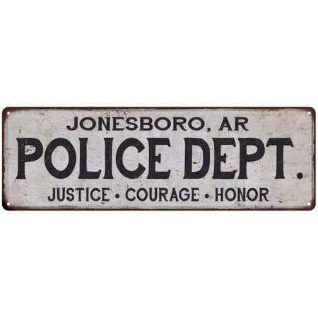 JONESBORO, AR POLICE DEPT. Home Decor Metal Sign Gift 6x18 106180012459](Halloween Jonesboro Ar)