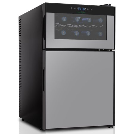 NutriChef PKTEWBC240 - Electric Beverage Fridge - Wine Cellar & Can Beverage Cooler Refrigerator with Digital Touchscreen (Cooling Units Wine Cellars)