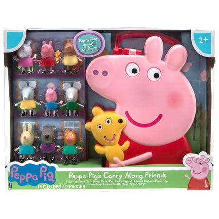 Peppa Pig's Carry Along Friends Figure Set - Peppa Pig Family