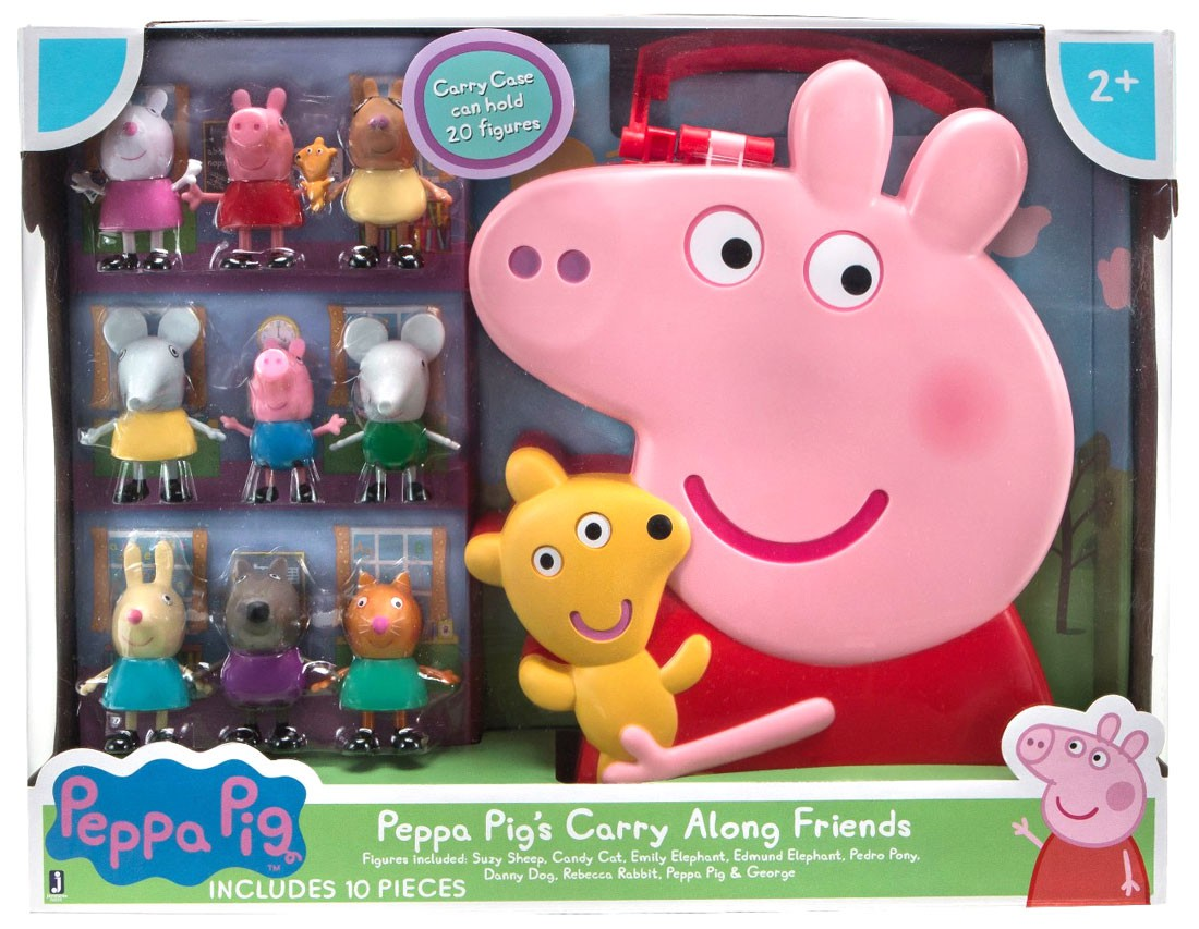 Peppa Pig Carry Case /& Hair Accessorie Set 7pcs *NEW*