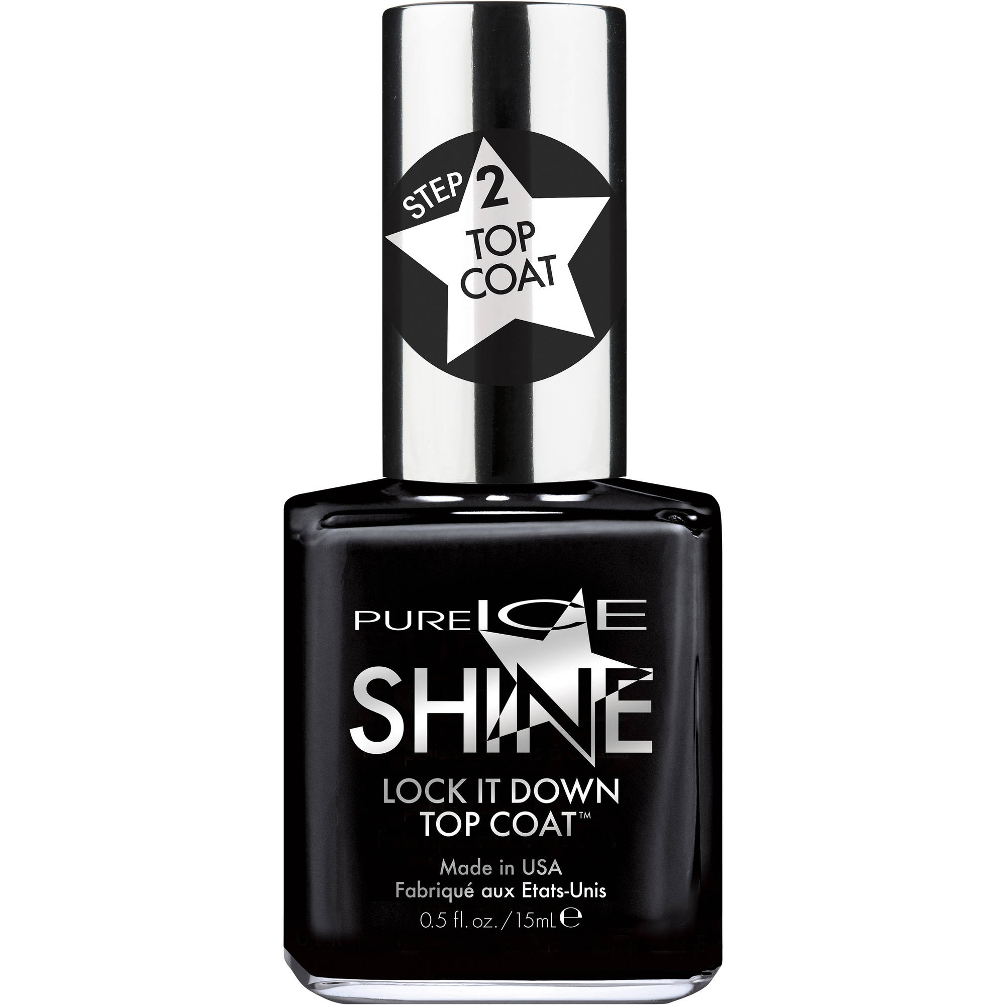 Pure Ice Shine Lock It Down Top Coat Nail Polish, 0.5 fl oz