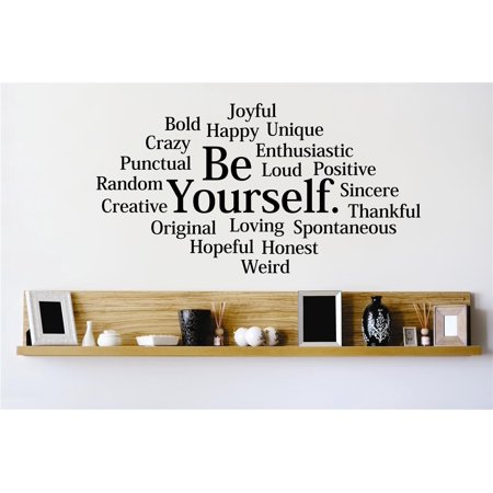 Do It Yourself Wall Decal Sticker Be Yourself Inspirational Life Quote Mural 12x18