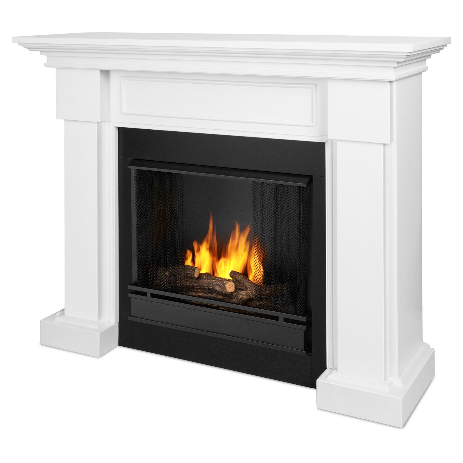 Real Flame Hillcrest Ventless Gel Fuel Fireplace Walmart Com
