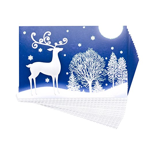 Hallmark Holiday Boxed Cards, Deer, 16 Cards and 17 Envelopes.