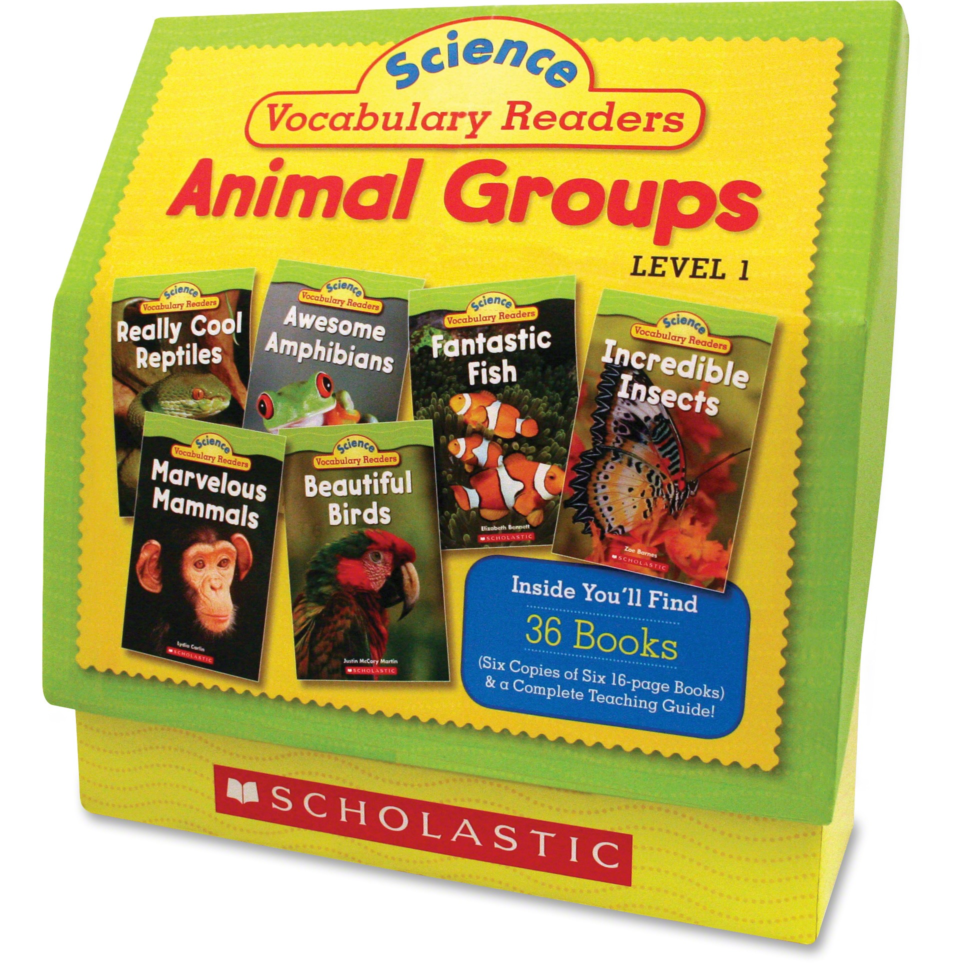 Scholastic, SHS0545149207, Res. Vocabulary Readers Animal Groups, 1 Set