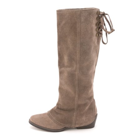 Naughty Monkey Womens Arctic Solstice Leather Almond Toe Mid-Calf Cowboy Boots