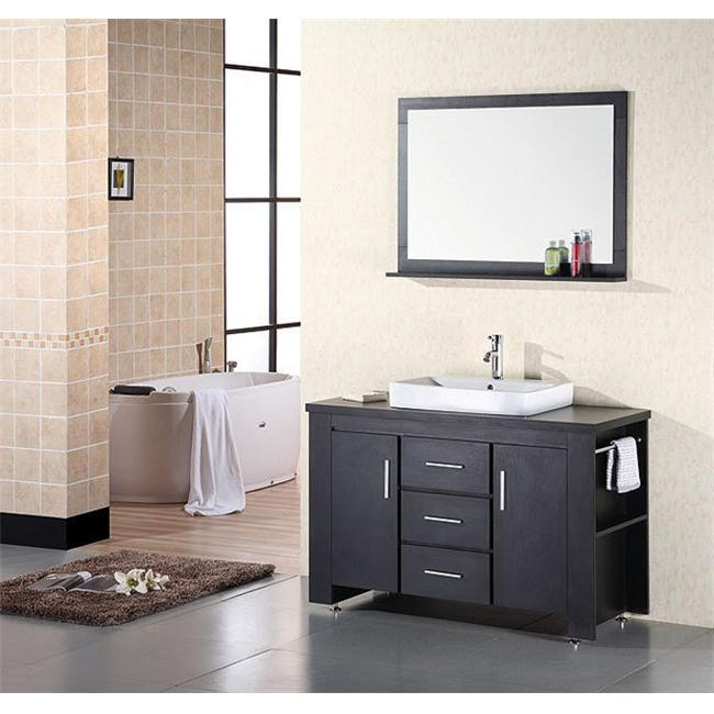 Design Element DEC083C Washington Espresso Finish Single Sink Vanity Set