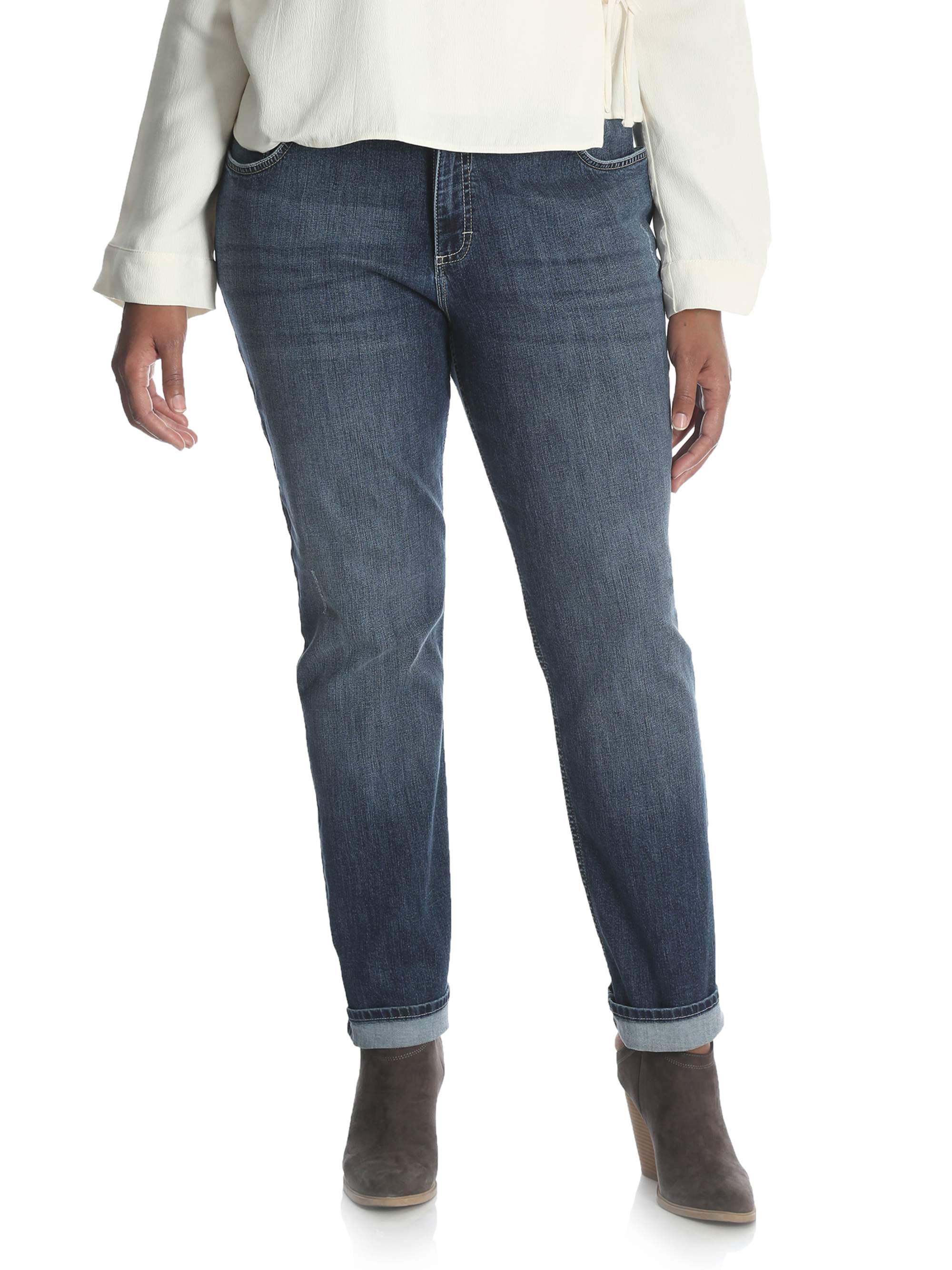 Women's Plus Midrise Slim Straight Jean
