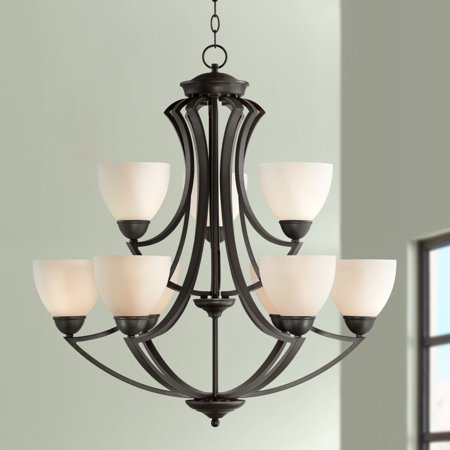 Modular Dark Bronze Chandelier - Possini Euro Design Milbury Collection Dark Bronze 9-Light 30