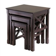 Winsome Xola Nesting Table Set in Cappuccino Finish