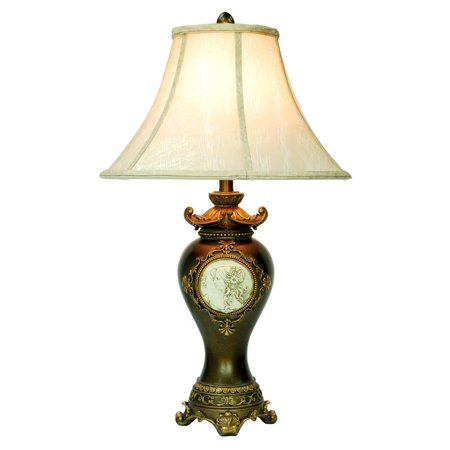 Ore International K-4192T Handcrafted Bronze Table Lamp