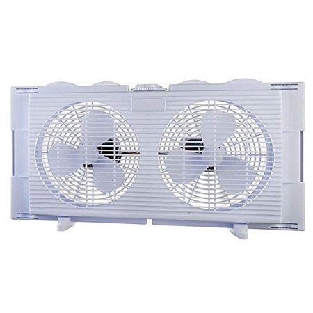 High Velocity 2-in-1 Twin Window Energy Efficient Fan Horizontal Vertical Fit Quiet Operation Overload Protection Fuse Easy to Install