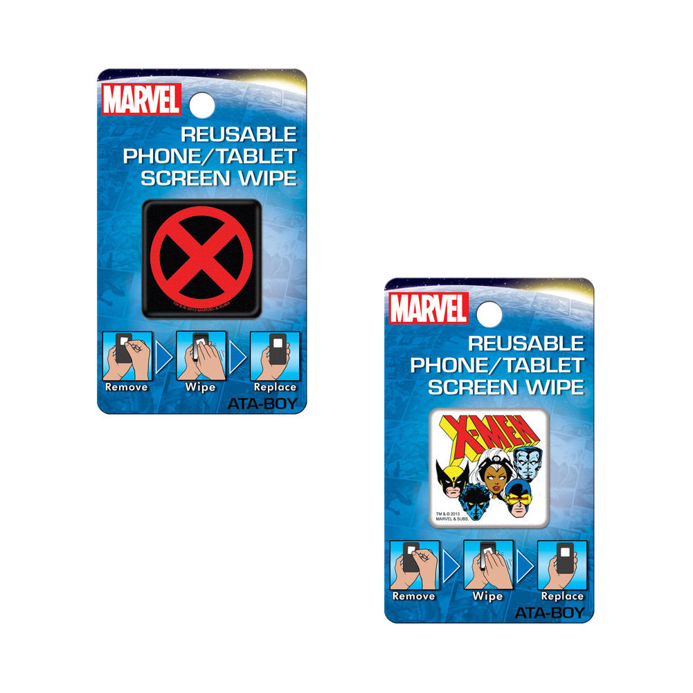 Bundle - 2 Items: X-Men Reusable Phone/Tablet Screen Wipes