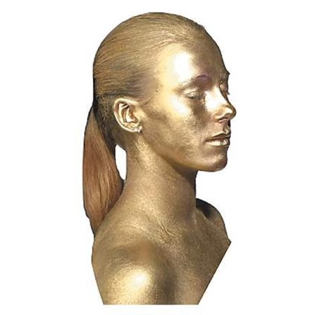 GOLD METAL BODY PAINT metalic face fantasy makeup cosmetic kit robot - Neck Wound Halloween Makeup