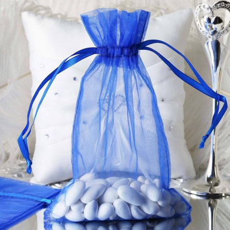 Efavormart 50PCS  Organza Gift Bag Drawstring Pouch for Wedding Party Favor Jewelry Candy Sheer Organza Bags - 6