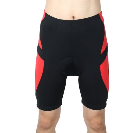 Cycling Shorts (REALTOO Authorized Bicycle Underwear Cycling Shorts Pants Black Red L (W 36) )