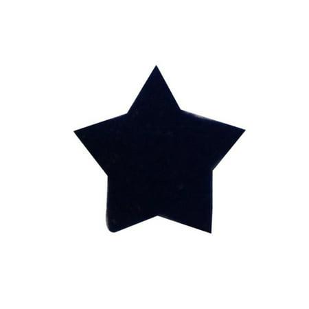Star Applique Craft - ID 3455C Lot of 3 Tiny Blue Felt Star Patch Night Sky Craft Iron On Applique