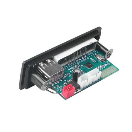 MP3 WMA WAV Decoder Board 5V 12V Wireless Audio Module Color Screen USB - image 3 de 4