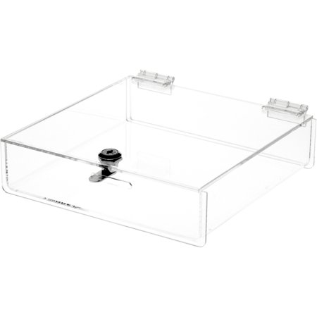 Plymor Brand Clear Acrylic Locking Countertop Display Case, 2