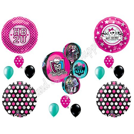 MONSTER HIGH ORBZ HB2U Birthday Party Mylar Balloon Decorations Supplies - Monster High Birthday Party Games