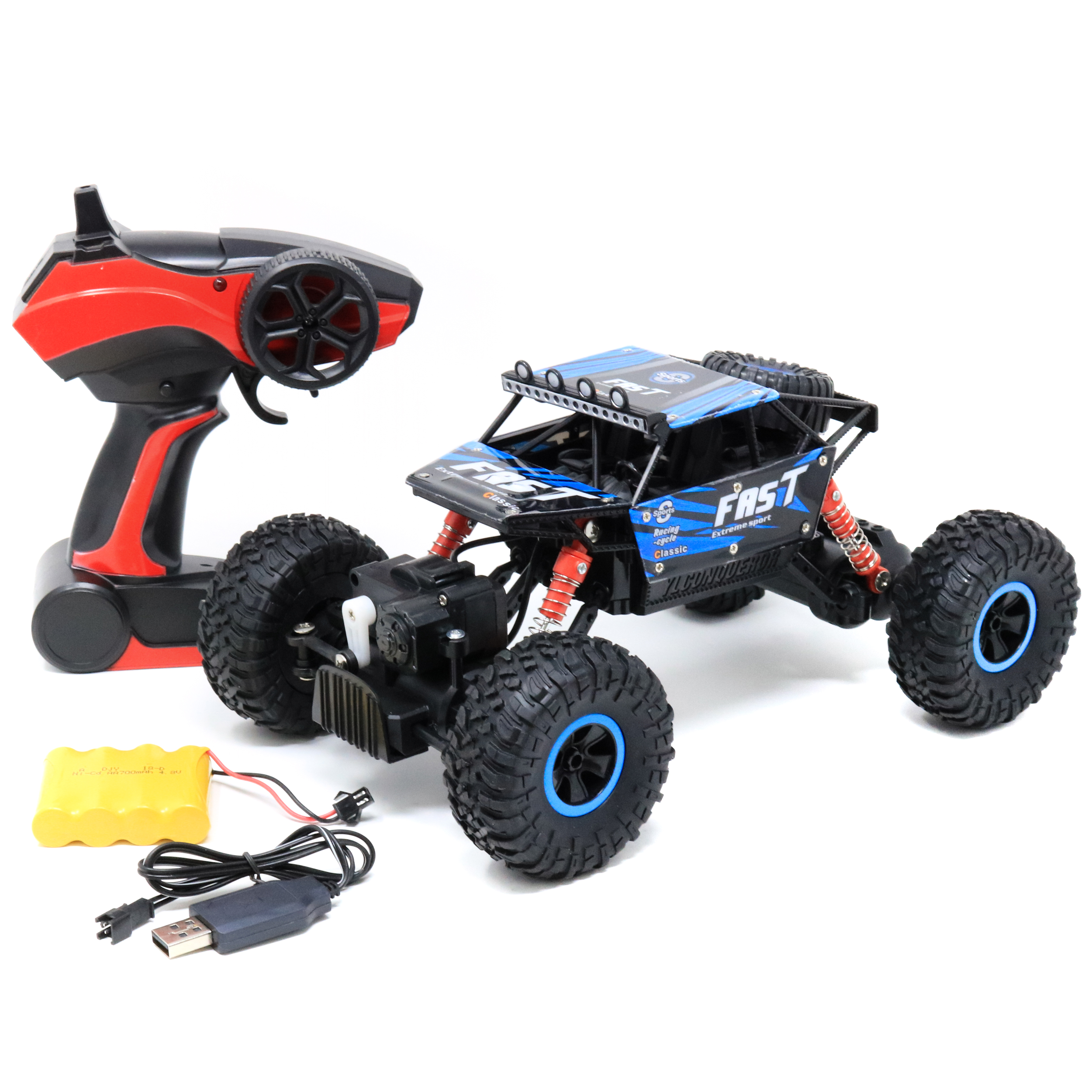 Retailery RC Car 4WD Off Road Monster Rock Terminator Crawler Truck With 2.4GHZ