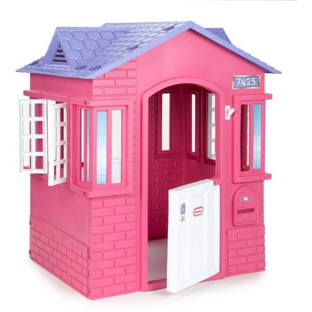Little Tikes Princess Cottage Playhouse Pink Walmart Com