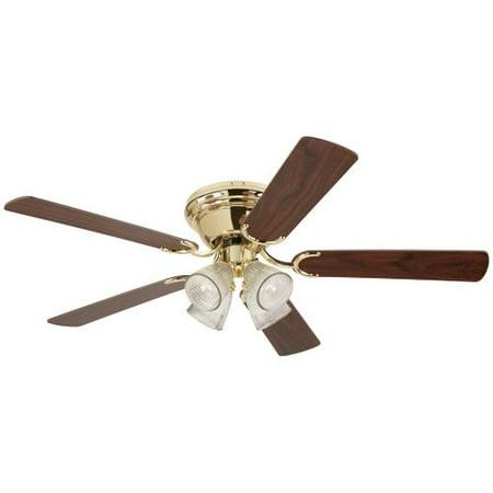 Westinghouse Fan & Lighting 78716 Contempra Ceiling Fan, Polished Brass, 5 Blades, (Westinghouse Brass Polished Ceiling Fan)