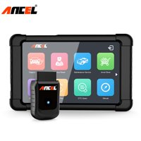 """Ancel X5 OBD2 Diagnostic Tool WiFi Full Systems ABS Airbag EPB DPF Oil Light Reset OBD Automotive Scanner Auto Scan Tool with 8"""" Tablet, Black"""
