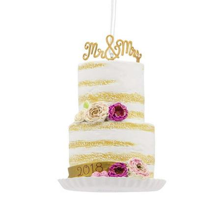 Hallmark 2018 Wedding Cake Dated Ornament