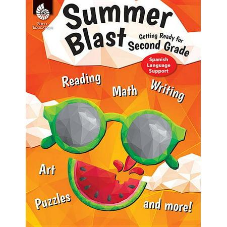 Summer Blast: Summer Blast: Getting Ready for Second Grade (Spanish Language Support) (Paperback)