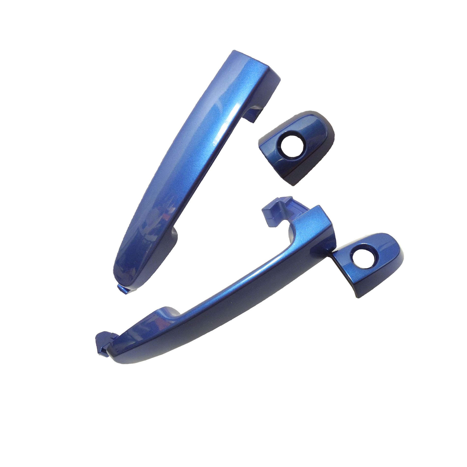For Front 02-06 TOYOTA Camry Blue Mica 8Q1 DS532 Outer Door Handle Set 02 03 04 05 06