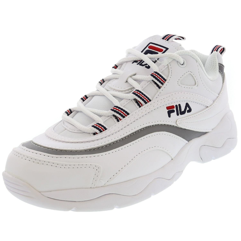 Navy Metallic Silver Ankle-High Sneaker
