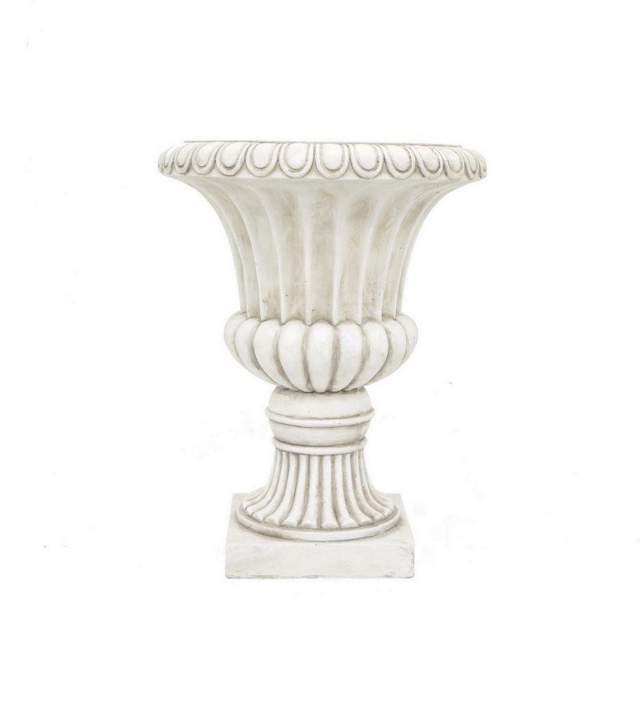 """Benzara 20.5"""" Ivory Resin Urn Planter by Benzara"""