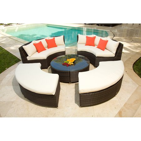 Source Outdoor Circa All-Weather Wicker Round Conversation Set - Source Outdoor Circa All-Weather Wicker Round Conversation Set