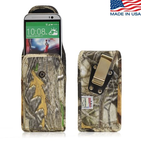 Turtleback Belt Clip made for HTC One M8 Ballistic Camoflage Nylon Case Pouch - Rotating Metal Belt Clip & Snap Closure - Made in (Htc One M8 Best Phone Ever Made)
