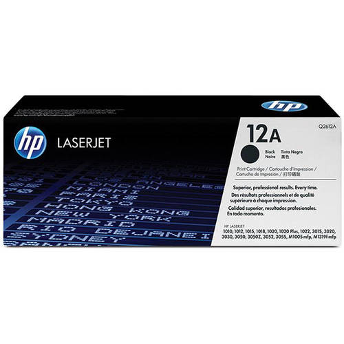 HP 12A (Q2612A) Black Original Laser Jet Toner Cartridge