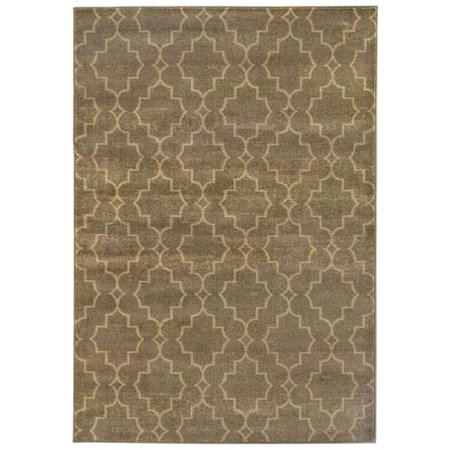Sphinx Casablanca Area Rugs - 5329B Contemporary Brown Damask Crosshatch Lines Diamonds Rug