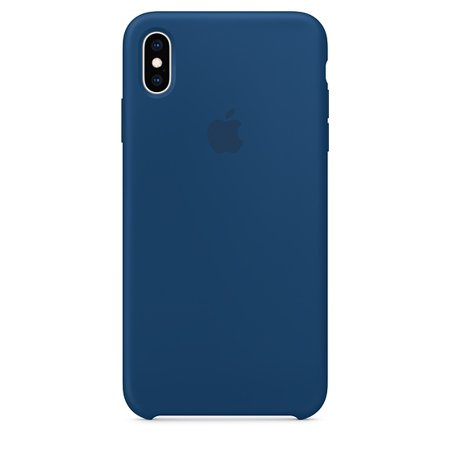 Horizon Case - Apple Silicone Case for iPhone XS Max - Blue Horizon