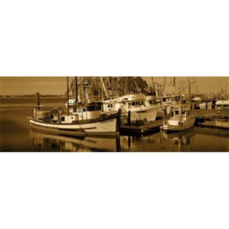 Fishing boats in the sea  Morro Bay  San Luis Obispo County  California  USA Poster Print by  - 36 x 12 - image 1 of 1