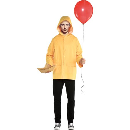 It Georgie Costume for Men, Standard Size, Includes a Raincoat and a Paper Boat