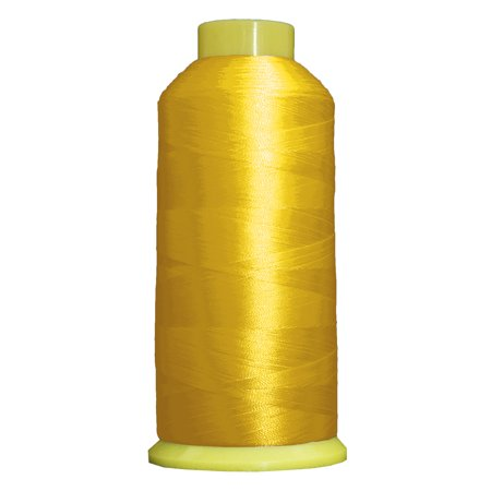 Threadart Polyester Machine Embroidery Thread - 5000m Cones - No. 154 - Yellow - 160 Colors - Pack of 2 Cones
