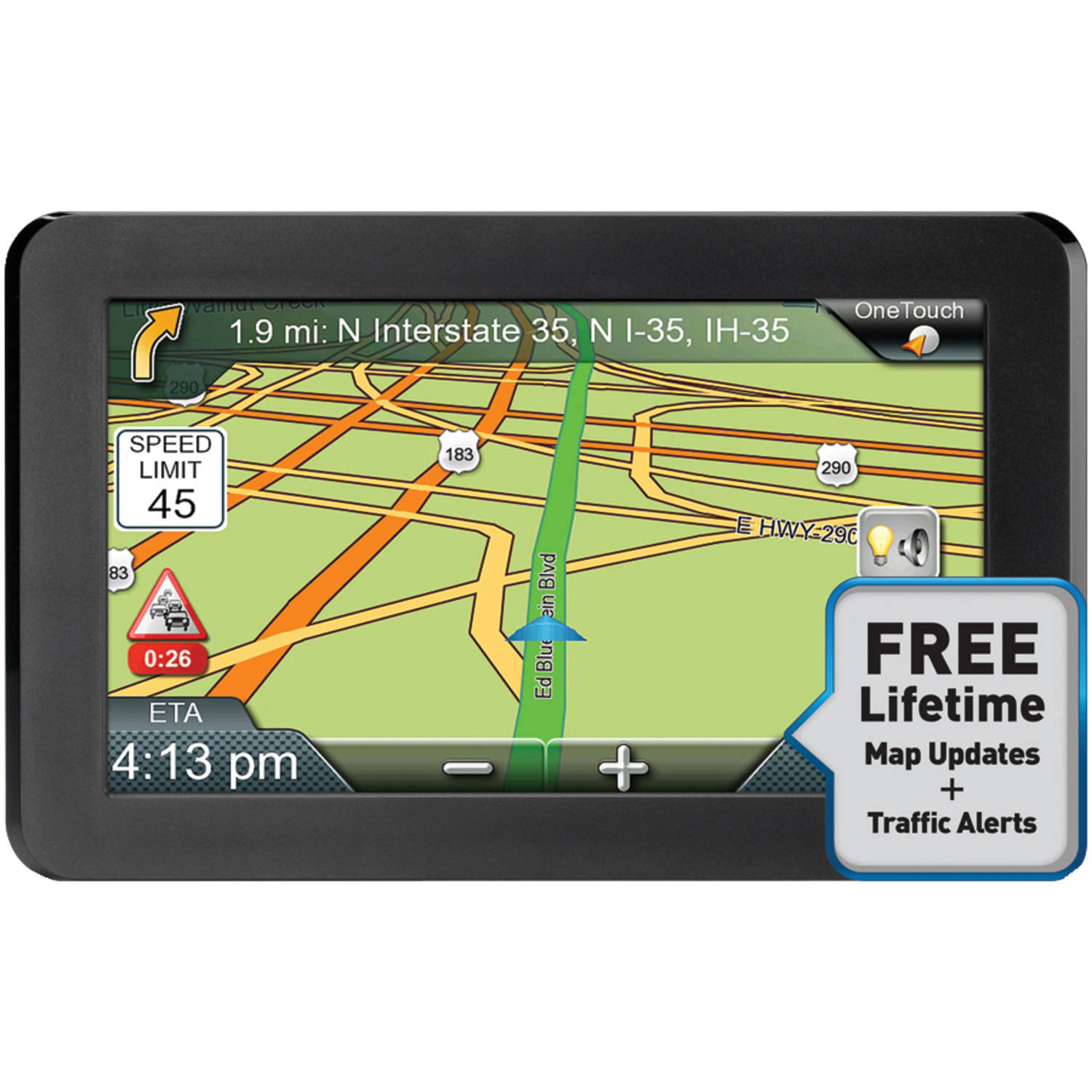 Magellan Rmswluc Roadmate T Lm  Gps Device With Lifetime Maps And Traffic Updates Walmart Com