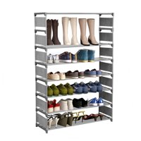 Hascon Shoe Organizer 8 Layers Large Capacity for 32 Pairs of Shoes Storage Organizer Portable Shoe Rack Shelf HITC