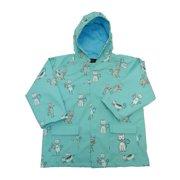 Baby Boys Angel Blue Kittens Rain Coat 1T