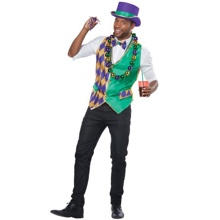 Mardi Gras Girl Costume (Mardi Gras Man Adult Costume)