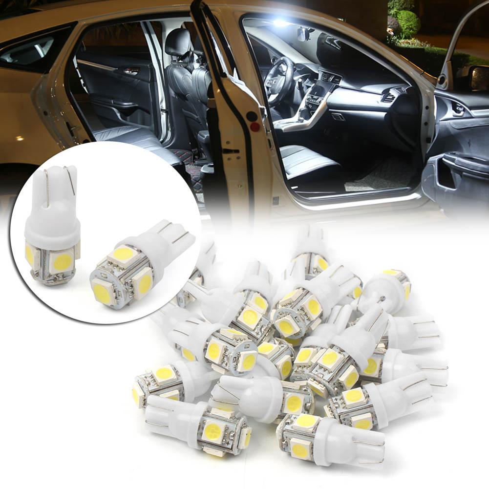 GZYF 20PCS Super White T10 Wedge 5-SMD 5050 LED Interior Light Bulbs W5W 192 168 194 147