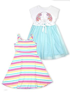 0edcef51998b Product Image Unicorn Tie Front Tulle and Jersey Skater Dresses