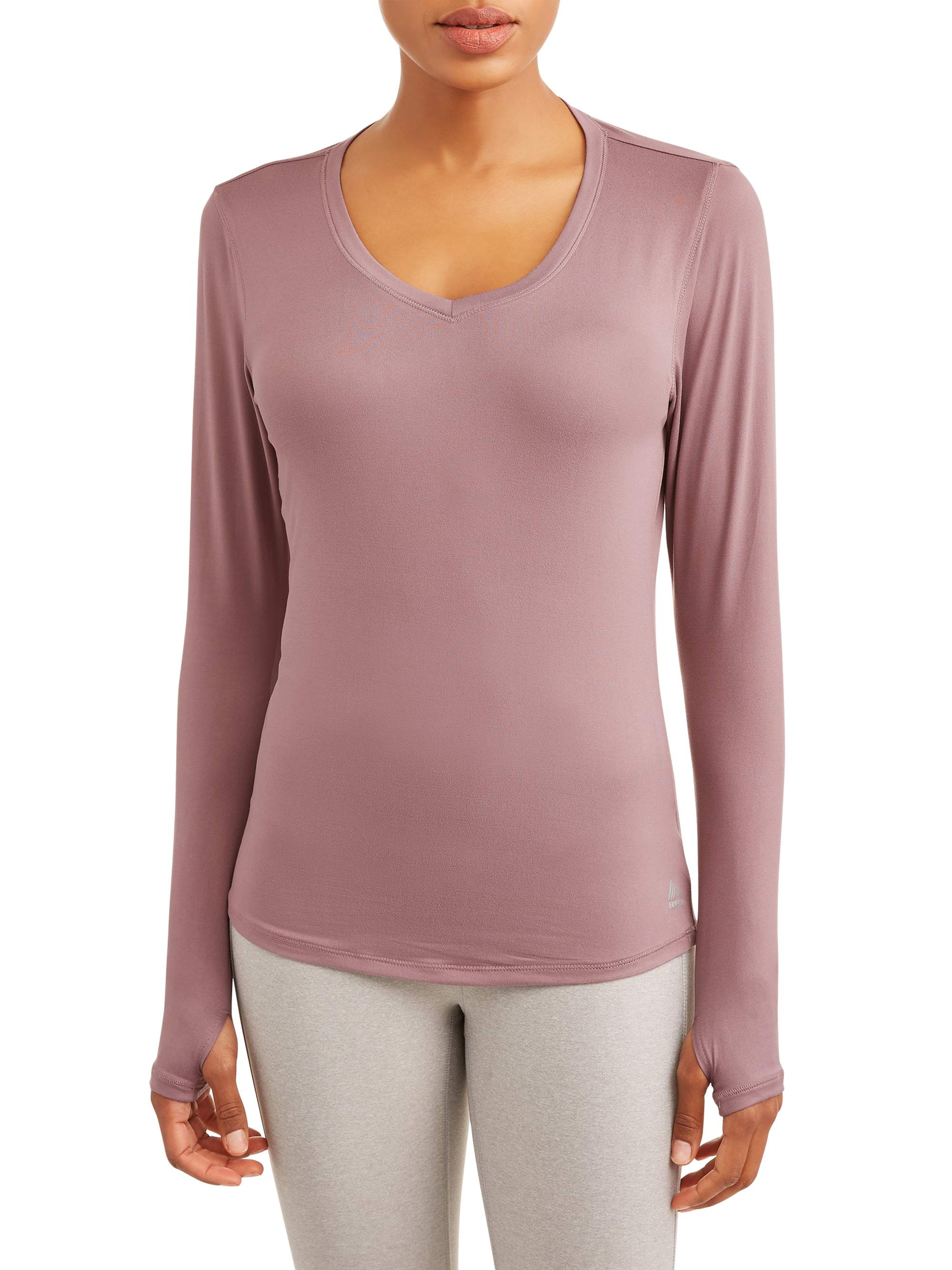 Women's Active Long Space Dye Long Sleeve V-Neck
