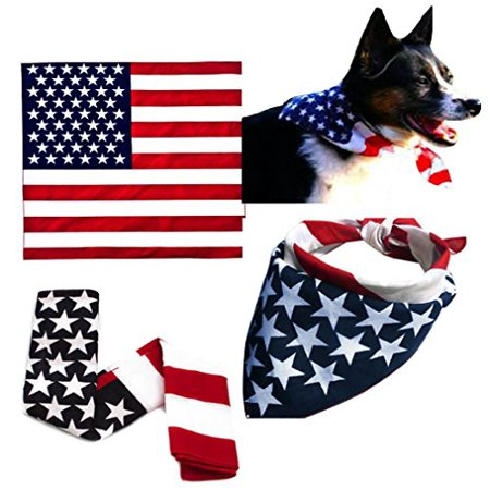 American Flag Bandana Patriotic Stars and Stripes Red White Blue Sticker](Red White And Blue Flag)